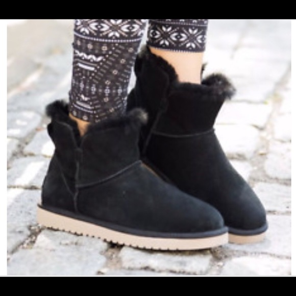 cfd938c4865 Kookaburra by UGG Mini black ankle boots